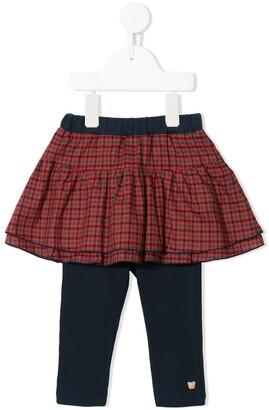 Familiar Layered Tartan Skirt
