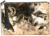 McQ by Alexander McQueen zip clutch bag - women - Calf Leather - One Size