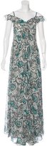 Carolina Herrera Silk Paisley Print Dress w/ Tags