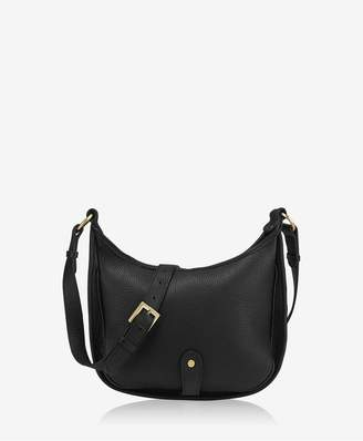 GiGi New York Casey Saddle Bag In Black Pebble Grain