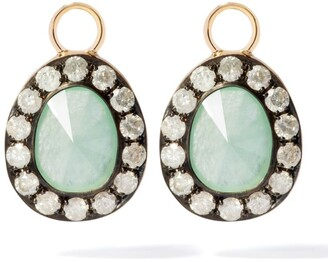 Annoushka Yellow Gold Dusty Diamonds Jade Earring Drops