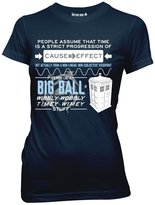 Doctor Who Wibblly Wobbly Quote Juniors Tee