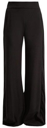 ZEUS + DIONE Alcyone Side-striped Crepe Trousers - Black