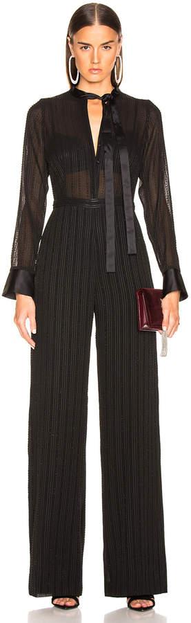 Alexis Harvelle Jumpsuit in Beaded Black | FWRD