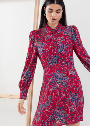 And other stories Paisley Mini Shirt Dress
