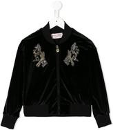 Bird Embroidered Bomber Jacket
