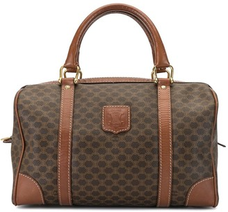 Céline Pre Owned Macadam pattern Boston bag