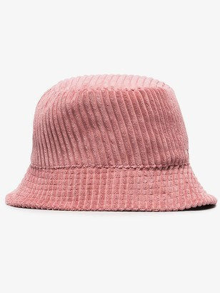 Isabel Marant pink Haley velvet bucket hat