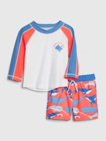 Gap Baby Whale Rash Guard Swim Set