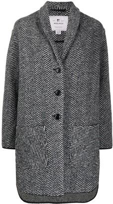 Woolrich Herringbone Single-Breasted Coat