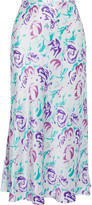 Thumbnail for your product : Rixo Kelly Floral-print Silk And Tencel-blend Charmeuse Midi Skirt