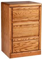 Forest Designs Bullnose Oak Three Drawer Nightstand: