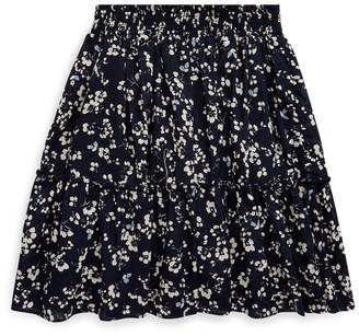 Ralph Lauren Floral Tiered Cotton Skirt