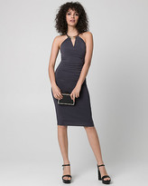 Le Château Knit Halter Cocktail Dress