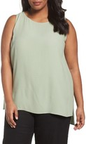 Eileen Fisher Plus Size Women's Silk Georgette Crepe Tank