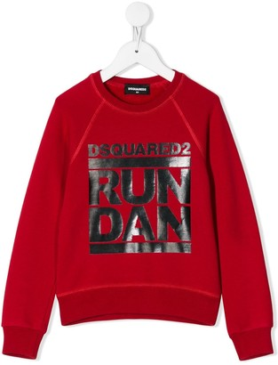 DSQUARED2 printed 'Run Dan' sweatshirt