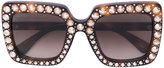 Gucci crystals applique sunglasses