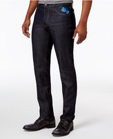 Hudson NYC Men's Tiger Flower Classic-Fit Stretch Embroidered Jeans
