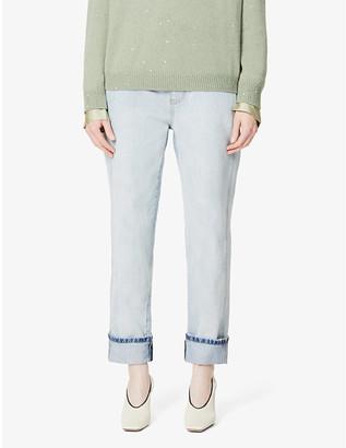 Brunello Cucinelli Faded straight mid-rise jeans