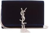 Saint Laurent Kate small velvet cross-body bag
