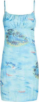 STAUD Belle Printed Sleeveless Mini Dress