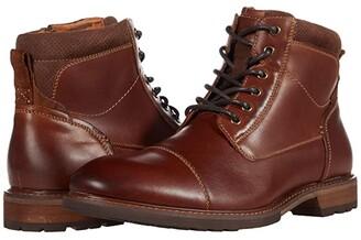 Florsheim Lodge Cap Toe Lace-Up Boot (Black Crazy Horse) Men's Shoes