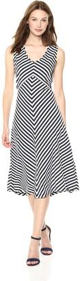 Jones New York Women's Stripe Twisted Back Knit Dress