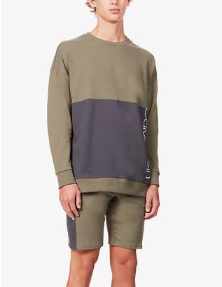 Calvin Klein Logo cotton-blend jersey shorts