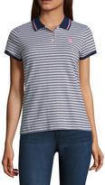 U.S. Polo Assn. Striped Knit Polo Shirt-Juniors
