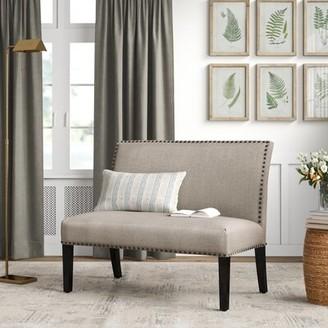 "Birch Laneâ""¢ Heritage Goddard Upholstered Bench Birch Lanea Heritage Upholstery: 100% Polyester/Cafe Brown"