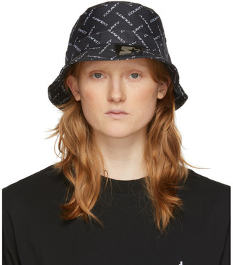 Marcelo Burlon County of Milan Black Starter Black Label Edition Logo Bucket Hat