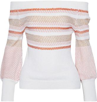 Peter Pilotto Metallic Cotton-blend Jacquard Sweater