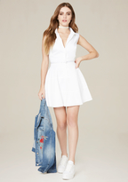 Bebe Claire Flared Shirtdress