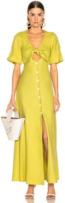 Alexis Jameela Dress in Lemongrass Linen | FWRD