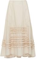 Molly Goddard Jane Ruffle-Detailed Cotton Midi Skirt