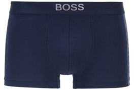 HUGO BOSS Gift Boxed Trunks In Stretch Fabric With Metallic Logos - Black