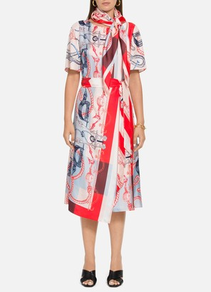 St. John Mariner Scarf Print Dress