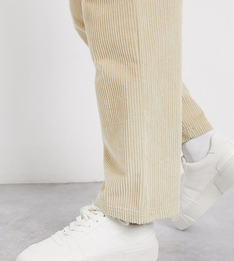 ASOS DESIGN Wide Fit trainers in white with chunky sole