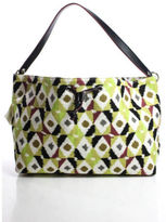 Stephanie Johnson NWT Multicolor Linen Abstract Print 1 Strap Tote Handbag