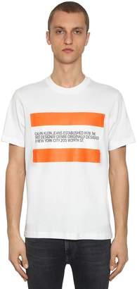 Calvin Klein Established 1978 EST. 1978 LOGO PRINT COTTON T-SHIRT