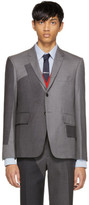 Thom Browne Grey Pattern Patchwork Blazer
