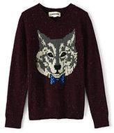 Classic Boys Novelty Intarsia V-Neck Sweater-Vibrant Sapphire
