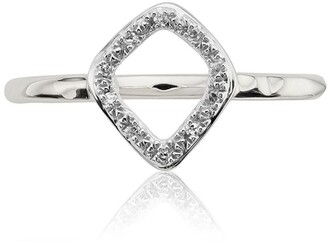 Monica Vinader Riva Mini Kite Stacking Diamond ring