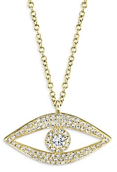Moon & Meadow 14K Yellow Gold Diamond Evil Eye Pendant Necklace, 18 - 100% Exclusive