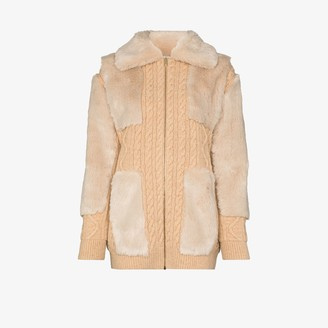 Stella McCartney Panelled Virgin Wool Cardigan