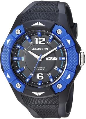 Armitron Sport Men's 20/5292BBK Day/Date Function Blue and Black Resin Strap Watch