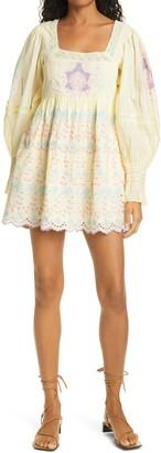 LoveShackFancy Freja Eyelet Embroidered Minidress