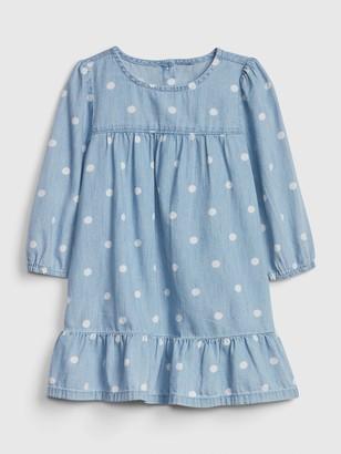 Gap Toddler Denim Dot Dress