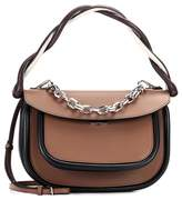 Marni Pump leather saddle bag
