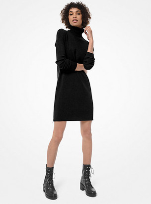 Michael Kors Side-Zip Turtleneck Sweater Dress